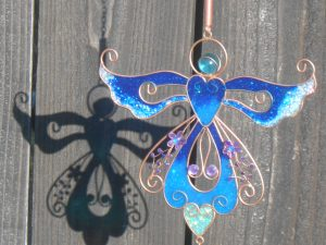 wind chimes with angels