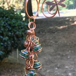 Copper Dragonfly Yard Art